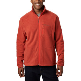 Columbia Fast Trek II Giacca in pile con zip intera Uomo, carnelian red/wildfire zip